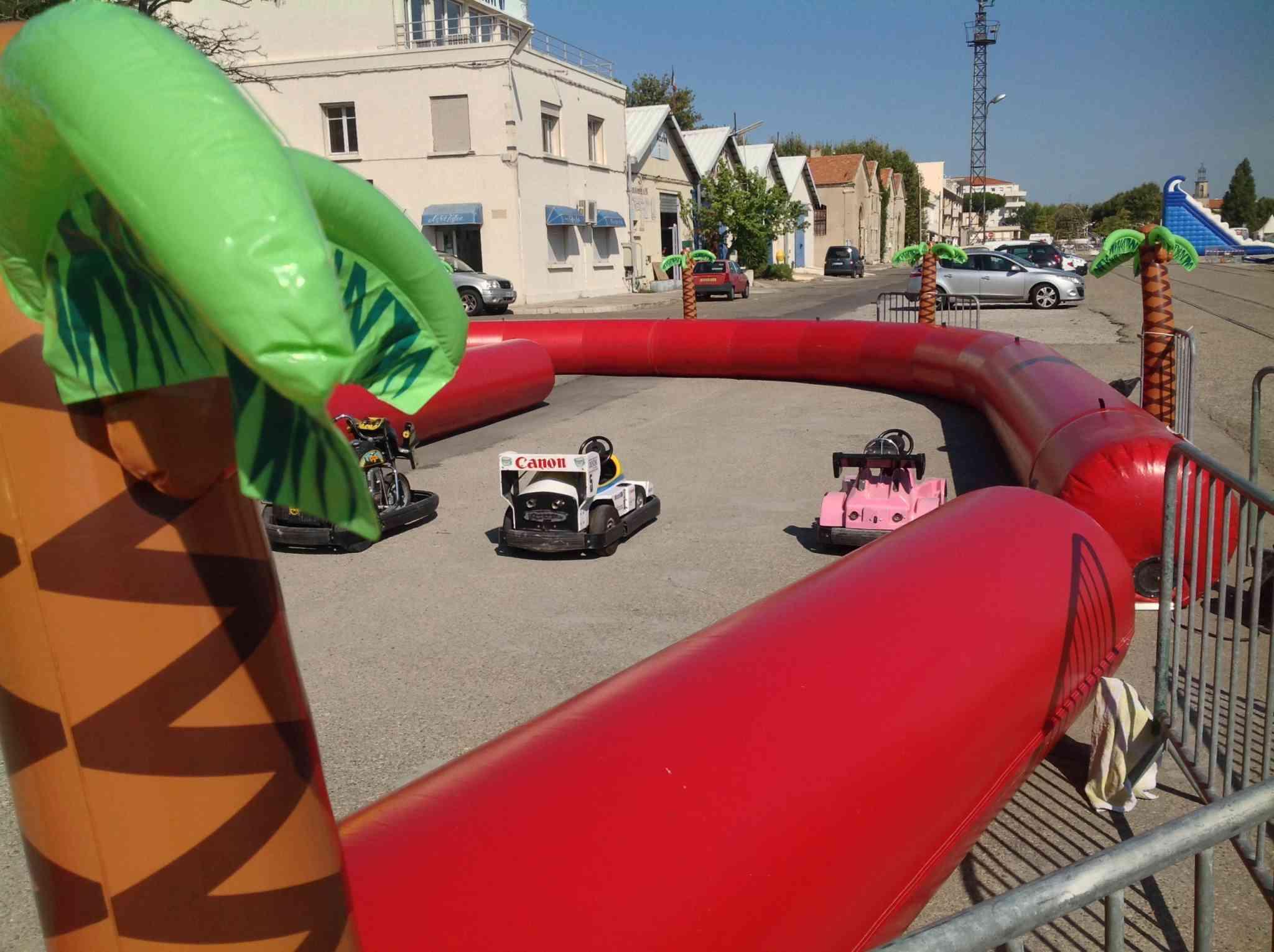 circuit gonflable pour karts